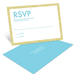 Flowing Frame -- Bar Mitzvah RSVP Postcards