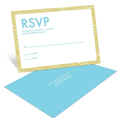 Flowing Frame Bar Mitzvah RSVP Postcards