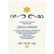 Simple Shining Star Bar Mitzvah Invitations