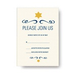 Simple Shining Star -- Bar Mitzvah RSVP Cards