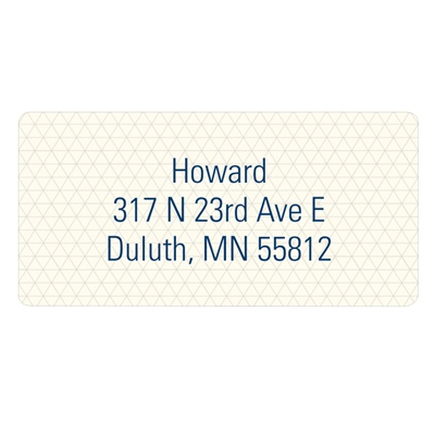 Triangle Array Bar Mitzvah Mailing Address Labels