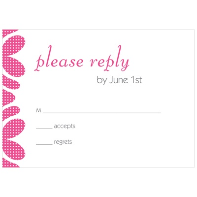 Dotted Edging -- Bat Mitzvah RSVP Cards