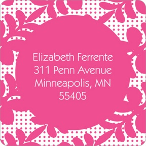 Trendy Floral Pattern -- Bat Mitzvah Address Labels