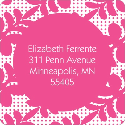 Trendy Floral Pattern Bat Mitzvah Address Labels