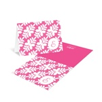 Trendy Floral Pattern -- Bat Mitzvah Thank You Cards