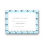 Custom Kaleidoscope Designs in Blue -- Unique RSVP Cards