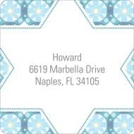 Custom Kaleidoscope Designs in Blue Trendy Address Labels
