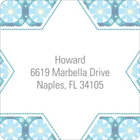 Custom Kaleidoscope Designs in Blue -- Trendy Address Labels