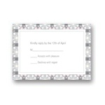 Custom Kaleidoscope Designs in Grey -- Unique RSVP Cards