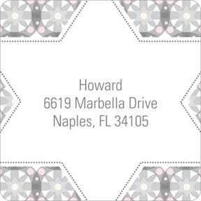 Custom Kaleidoscope Designs in Grey -- Trendy Address Labels