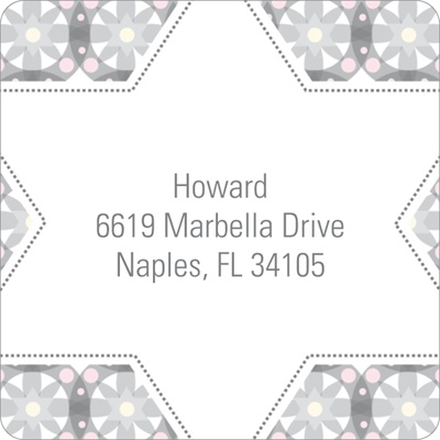 Custom Kaleidoscope Designs in Grey Trendy Address Labels