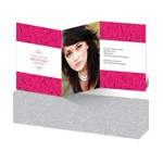 Photo Block and Swirls -- Unique Bat Mitzvah Invitations