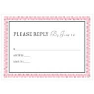 Zig Zag Frame RSVP Response Cards