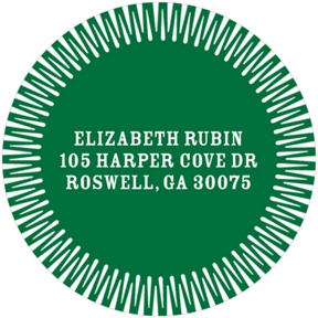 Stylish Circle Frame -- Round Address Labels