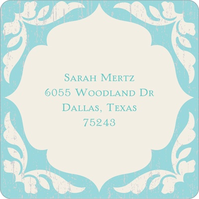 Rustic Finish -- Current Address Labels