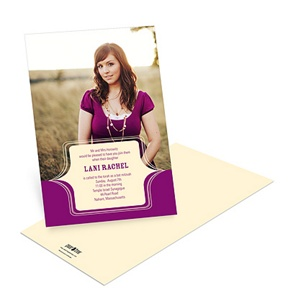 Classy Side Sweep -- Fun Bat Mitzvah Invitations