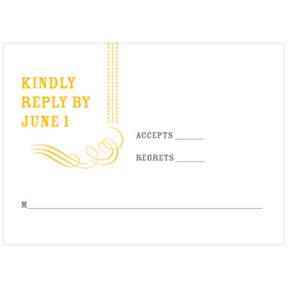 Chic Flourish -- Bar & Bat Mitzvah RSVP Cards