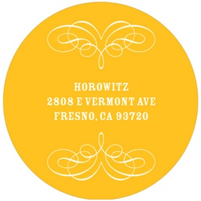 Round Flourish Design -- Bar & Bat Mitzvah Address Labels