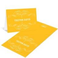 Chic Flourish Bat & Bar Mitzvah Thank You Cards