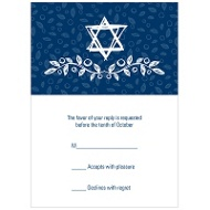 Sketched Star of David Casual Reply Cards