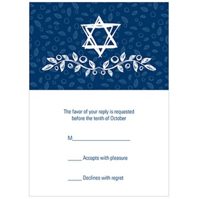 Sketched Star of David -- Casual Reply Cards