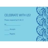 Artistic Scallops Bar Mitzvah Response Cards