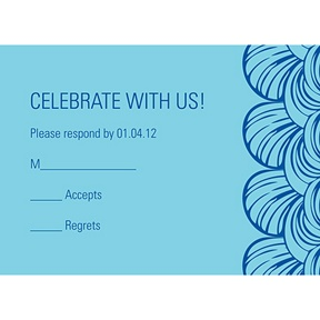 Artistic Scallops -- Bar Mitzvah Response Cards