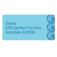 Creative Edging Colored Address Labels