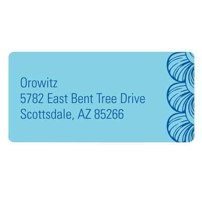 Creative Edging -- Colored Address Labels