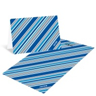 Striped in Blue Creative Thank You Notes