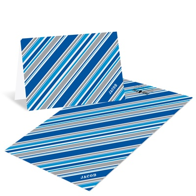 Striped in Blue -- Creative Thank You Notes