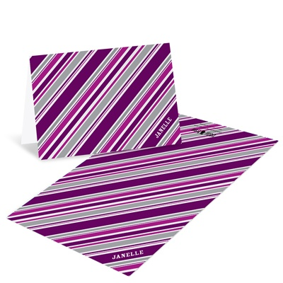 Striped in Purple Creative Thank You Notes