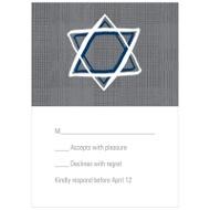 Grosgrain Sketch Bat Mitzvah Response Cards