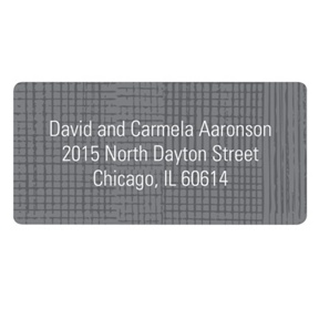 Grosgrain Sketch -- Contemporary Address Labels