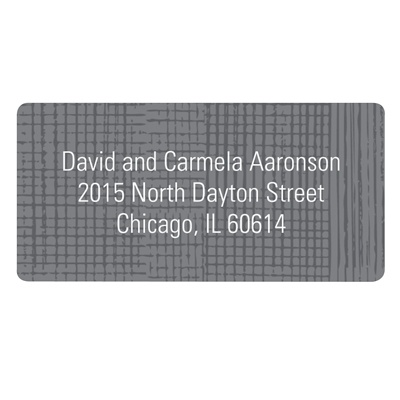 Grosgrain Sketch Contemporary Address Labels