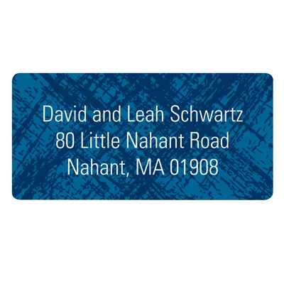 Imaginative Imprint Blue Address Labels