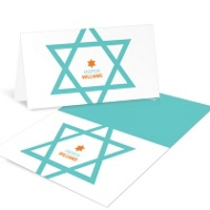 Star of David Delight Modern Thank You Cards