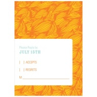 Flowing Pattern Bat Mitzvah Reply Cards