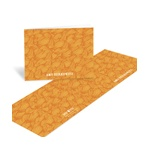 Flowing Pattern -- Orange Thank You Cards