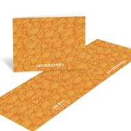 Flowing Pattern Orange Thank You Cards