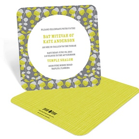 Lovely Vines -- Bat Mitzvah Party Invitations