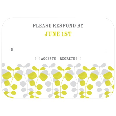Lovely Vines Creative Response Cards