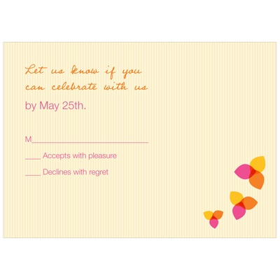 Blushing Bat Mitzvah -- Custom RSVP Cards