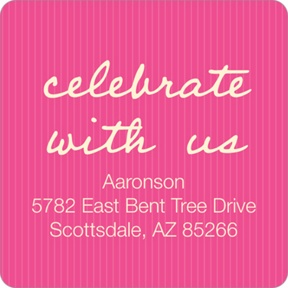 Blushing Bat Mitzvah -- Square Address Labels