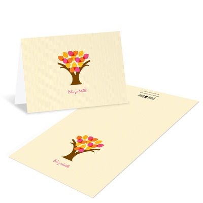Translucent Tree Bat Mitzvah Thank You Cards