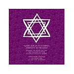 Linear Star of David in Purple -- Bat Mitzvah Invites