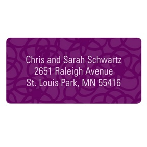Funky Squiggles-- Purple Address Labels
