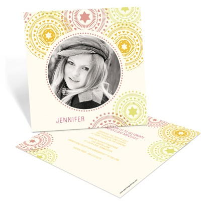 Circling Creative Designs -- Fun Bat Mitzvah Invitations