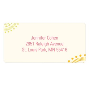 Circling Creative Designs -- Fun Return Address Labels