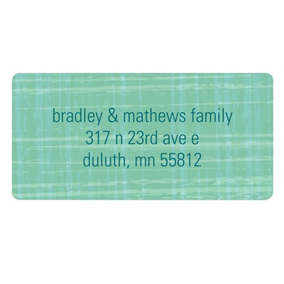 Vintage Scroll Paper Stylish Address Labels